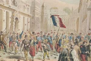 French Procession Genova Painting 1859 Italian War Of Independence Postcard