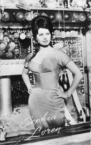 Beautiful Movie Star Actress Sophia Loren HAFBO RPPC Photo Postcard 20-1274
