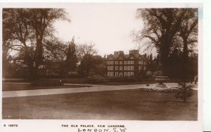 London  Postcard - The Old Palace - Kew Gardens - Real Photograph - Ref X679