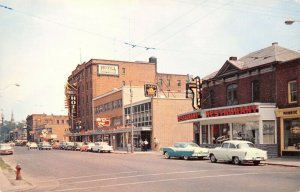 Cornwall Ontario Canada~Second Street~Shirley's Restaurant~Hotel~1950s Cars