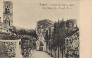 Ravello, Entrata del Palazzo Rufolo Con Campanile e Grande Torre, Italy, 10-20s