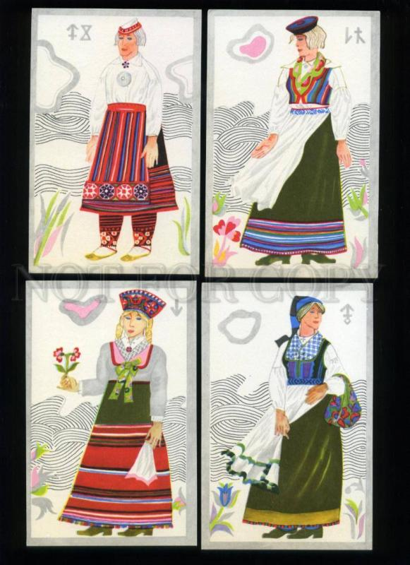 166111 ESTONIA National Costumes by TOLLI 12 old postcards