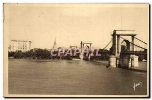 Old Postcard Tarascon Bridge supendu On Rhone