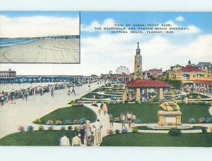 Unused Linen OCEANFRONT PARK AT BEACH Daytona Beach Florida FL M7321