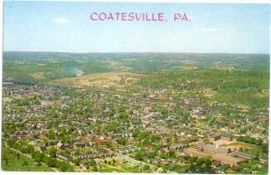 Air View of Coatesville Pennsylvania PA Chrome