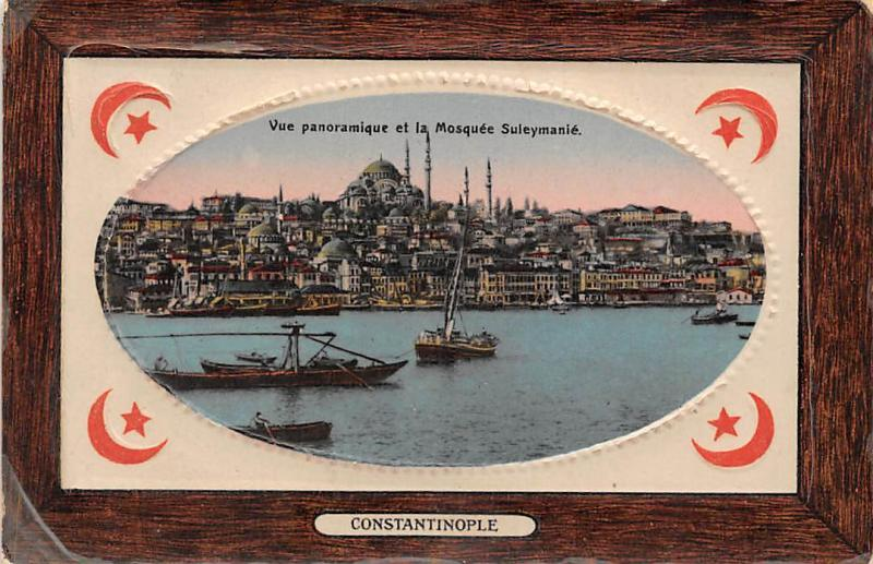 Embossed Turkey Istanbul Constantinople, Vue panoramique Mosquee Suleymanie