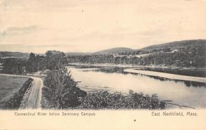 East Northfield MA~Seminary Campus View~Dirt Road Along Connecticut River~1908
