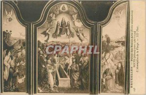 Postcard Former Brussels Palace of Fine Arts (Dutch school) Bouts The Assumpt...