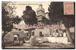 Postcard Old Algiers mosque Sidi Abderhaman