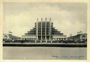 Belgium Bruxelles Le Palais Central Palace Centenary Halls Postcard