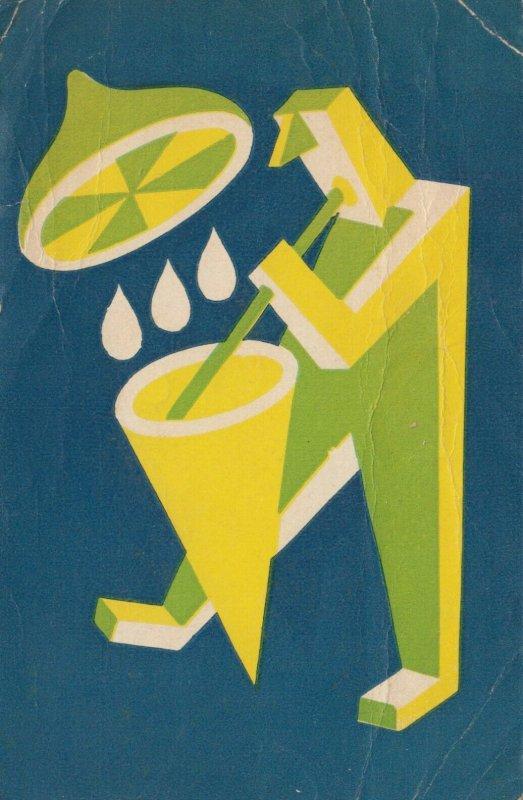 Man drinks lemon drink , 1910-20s