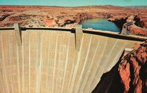 Page, Arizona, AZ, Glen Canyon Dam, Lake Powell, Chrome Vintage Postcard g5703