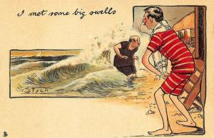 Raphael Tuck Artist Fych I met some big swells Postcard