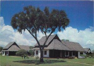 Butterfly stamp on Postcard Kenya Msambweni The Black Marlin Italian village
