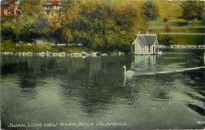 Swan Long View Park Rock Island Illinois