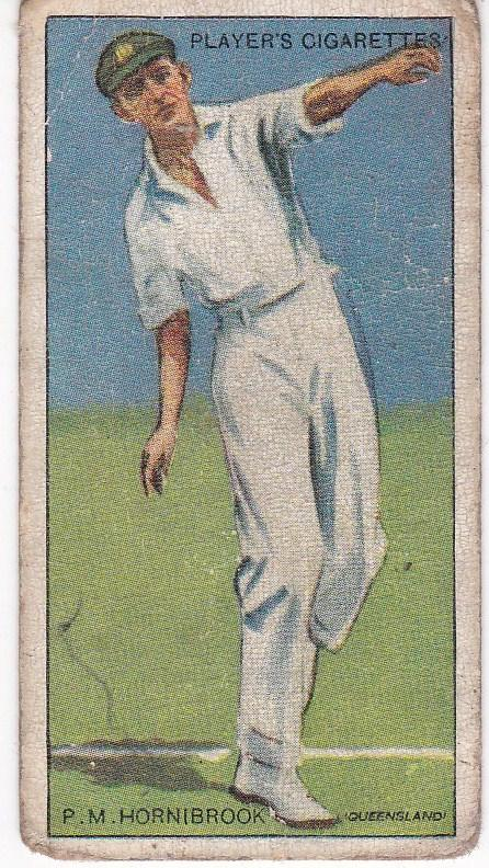 Cigarette Cards Player's Cricketers 1930 No 23 - P M Hornibrook