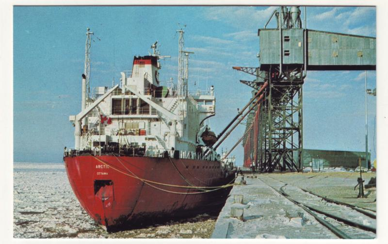 P703 1979 ship mv artic photos loading grain port of churchill canada