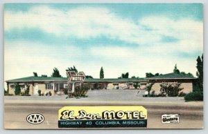 Columbia Missouri~El Don Best Western Motel on US 40~1956 Roadside