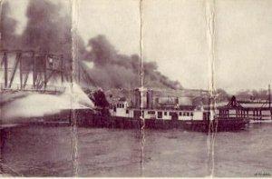 APRIL 27, 1915 BELLE ISLE BRIDGE FIRE DETROIT, MI 1917