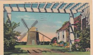 Massachusetts Cape Cod An Old Cape Cod Grist Mill 1946