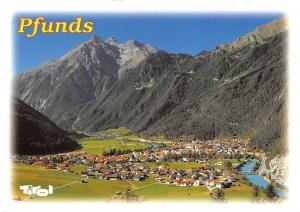 Pfunds Tirol Gesamtansicht River Bridge Pont Panoramic view