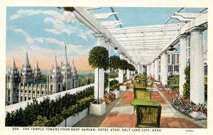 UT - Salt Lake City. Hotel Utah Roof Garden View