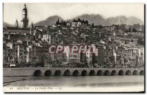 Old Postcard Menton Old Town