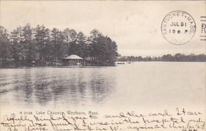 Lake Chauncy Westboro Massachusetts Rotograph 1907