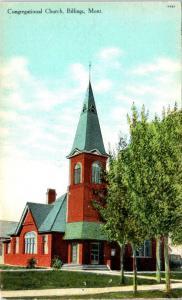 BILLINGS, MT MONTANA     CONGREGATIONAL  CHURCH    c1910s    Postcard