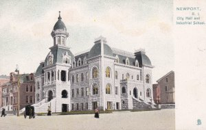 NEWPORT, Rhode Island, 00-10s; City Hall and Industrial School, TUCK #5559