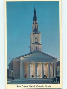 Unused Pre-1980 CHURCH SCENE Orlando Florida FL A7761