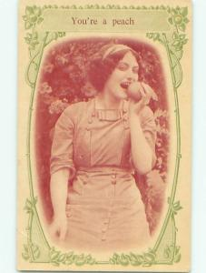 Divided-Back PRETTY WOMAN Risque Interest Postcard AA8094