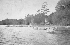 Bemus Point New York Shore Line Waterfront Antique Postcard K94352