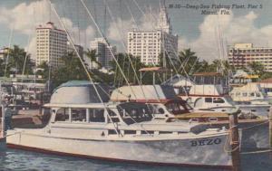 Florida Miami Pier 5 Deep Sea Fishing Fleet Curteich