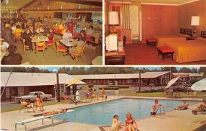 Rocky Mount North Carolina Quality Courts Motel Coral Vintage Postcard J51640