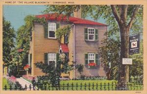 Massachusetts Cambridge Home Of The Village Blacksmith 1947