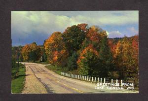 WI Greetings From Lake Geneva Wisconsin Postcard Wis