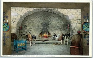 Grand Canyon National Park Postcard The Fire Place, HERMIT'S REST Fred Harvey
