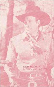 Cowboy Actor Wild Bill Elliott Vintage Arcade Card
