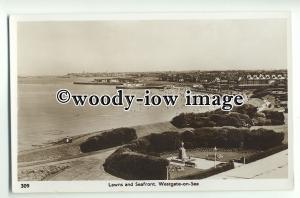tp8862 - Kent - The Seafront, Lawns & Coastline, along Westgate-on-Sea- postcard