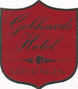 Germany Goettingen Gebhards Hotel Vintage Luggage Label sk3274