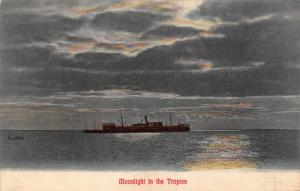 South Africa moonlight in the tropics ship postcard