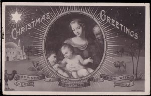 Providence RI - CHRISTMAS GREETINGS  1908