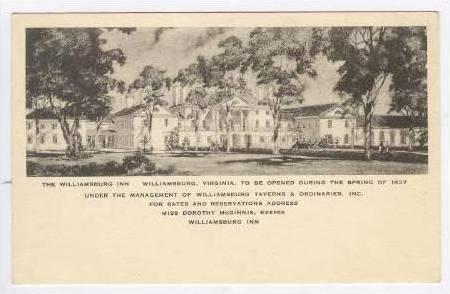 Williamsburg Inn, Williamsburg, Virginia, 1930s