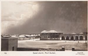 Sand Storm at Port Sudan Real Photo Disaster Postcard
