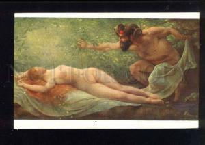 043135 FAUN & Nude NYMPH PAN By MOULIN vintage colorful PC
