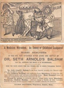 Victorian Trade Card Approx size inches = 3 x 4.5 Pre 1900 crease left top co...