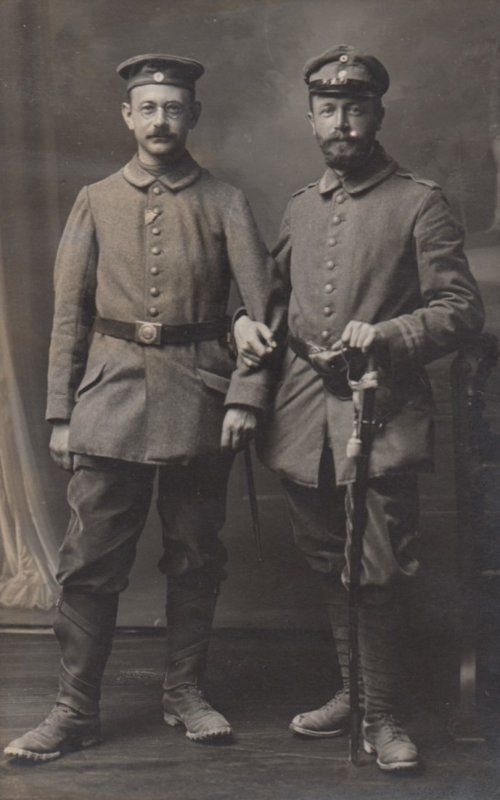 RP: War 1914-18 ; 2 soldiers , COLMAR , Germany