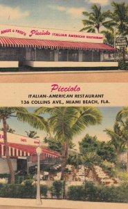 MIAMI BEACH , Florida , 1930-40s ; Picciolo Italian-American Restaurant