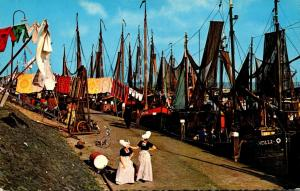 Netherlands Volendam Locals and Fishing BOats